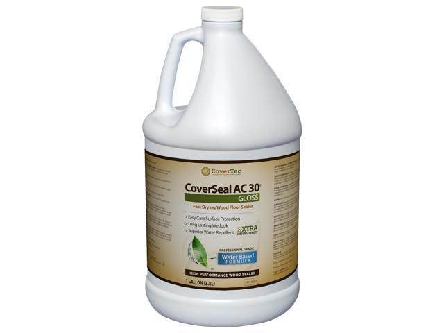 CoverSeal AC30 Gloss Wood Sealer, Durable, Fast Setting, Water based, UV Resistant (1 Gal - Prof Grade)