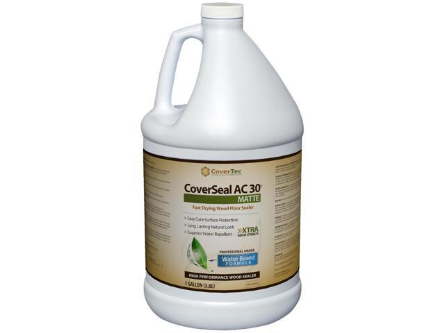 CoverSeal AC30 Matte Wood Sealer, Durable, Fast Setting, Water based, UV Resistant (1 Gal - Prof Grade)