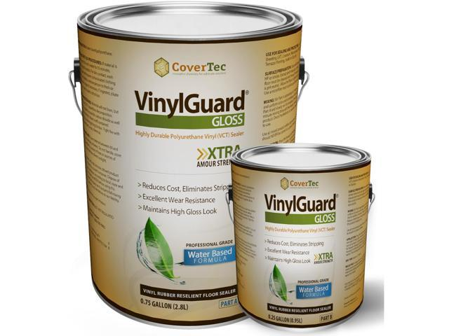 VinylGuard Gloss Sealer Floor Coating for VCT and Terrazzo (1 Gal - Prof Grade (2) Part Kit)