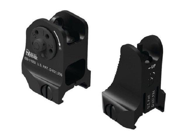 Daniel Defense Fixed Front and Rear Sight Combo Black - 19-088-09116