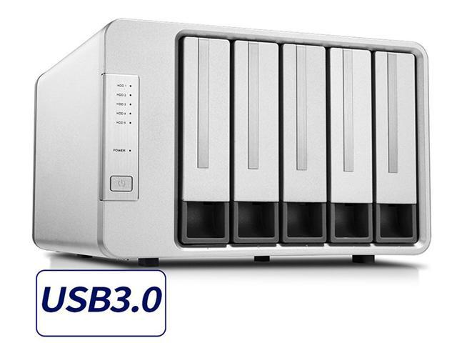 TerraMaster D5-300 USB3.0 Type C 5-Bay Raid Enclosure USB3 ...