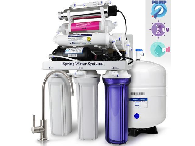 Ispring Reverse Osmosis Water Filter System W Ak Amp Uv