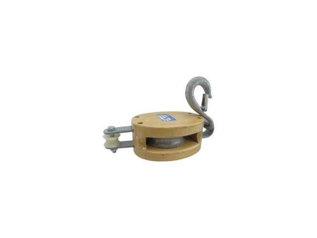 "3"" Single Pulley Wooden Shell Rope Block"