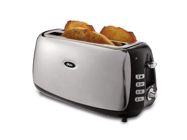 Oster 4 Slice Long Slot Toaster Tsstjcps01 033 Newegg Ca