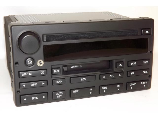 Ford Crown Victoria 2003-2007 Radio AM FM CD Cassette w Aux Input 3W7T-18C868-AK