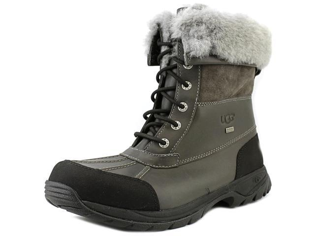 Ugg Australia Butte Mens Size 9 Gray Leather Snow Boots