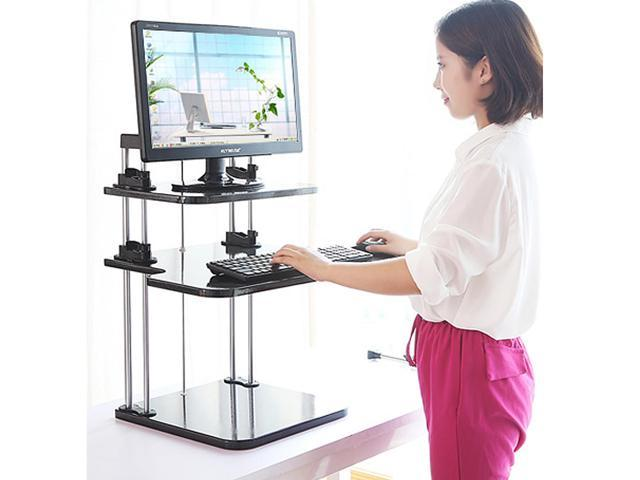 Computer Lifter Sit Stand Desk Steady Standing Desks Two