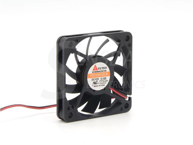 Y.S.TECH FD126010LB 12V 0.14A 6010 double ball bearing 6CM 60mm axial fan case cooling fan