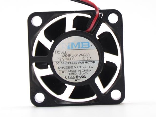 Original Minebea NMB-MAT 1204KL-04W-B50 3010 3cm DC 12V DC 0.12A Fan For Fortinet FWF-80CM Router notebook hard drive mini micro cooling fan