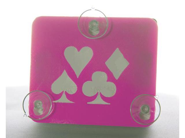 Toll Transponder Holder for I-Pass, Fastrak, and old/new EZ Pass 3 Point Mount - Card Suits - Pink