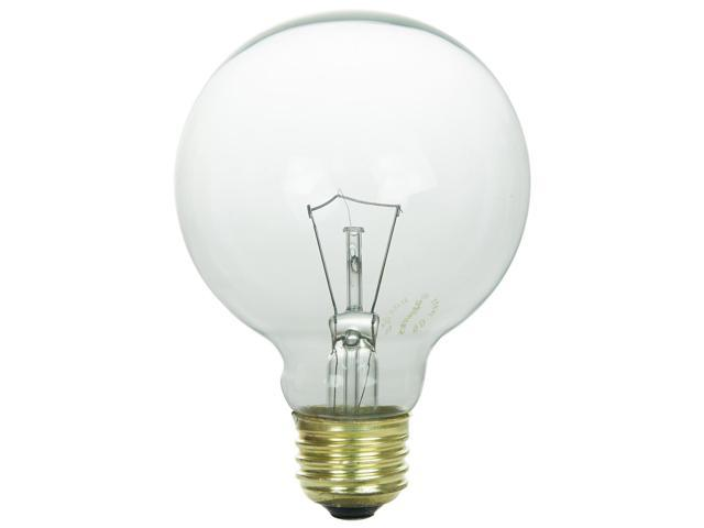 SUNLITE 40W 120V Globe G25 E26 Clear Incandescent Light Bulb