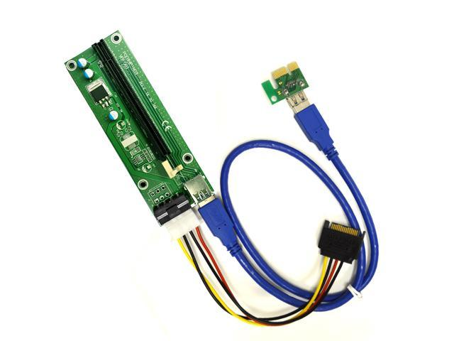 Powered Usb Extension Cable : Pcie pin molex pci e to powered riser adapter