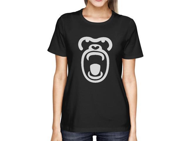 Gorilla Face Tshirt Halloween Tee Cute Ladies Shirt For Zoo