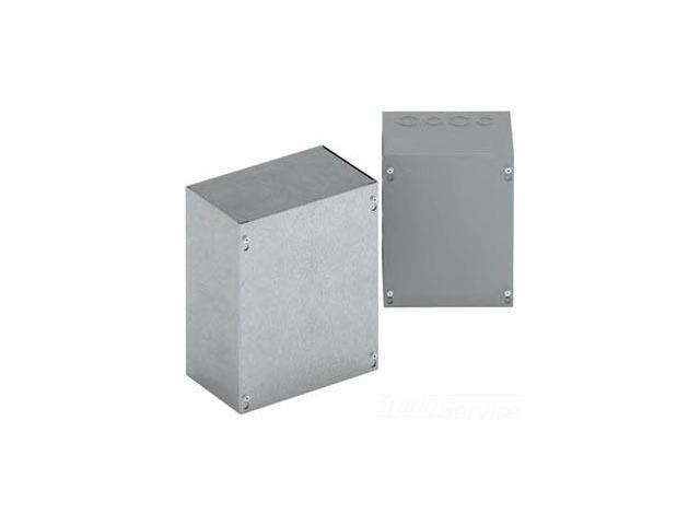 B-Line 10104 Screw Cover -NK Screw CoverType 1 Pull Box 10x10x4 In, No Knockouts, 16 Gauge,