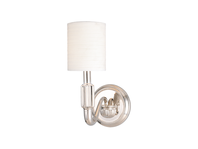 Hudson Valley Tuilerie 1 Light Wall Sconce in Polished Nickel - 401-PN