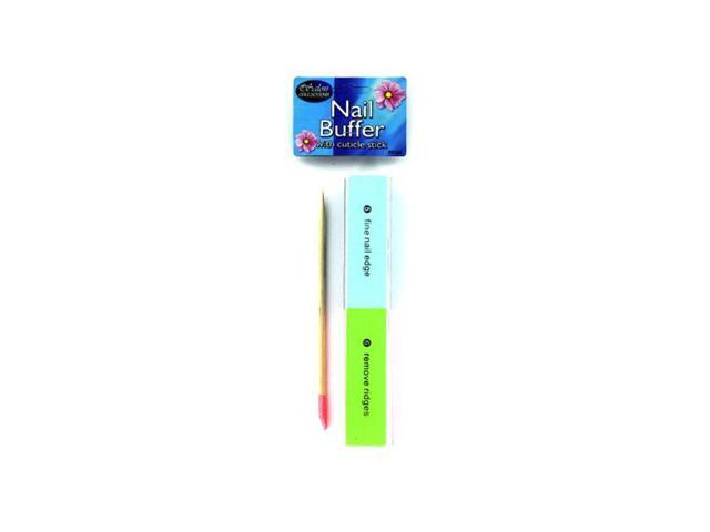 Nail buffer with cuticle stick - Pack of 96