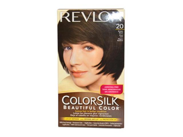 Revlon U-HC-1566 ColorSilk Beautiful Color No. 20 Brown Black 2N - 1 Application - Hair Color