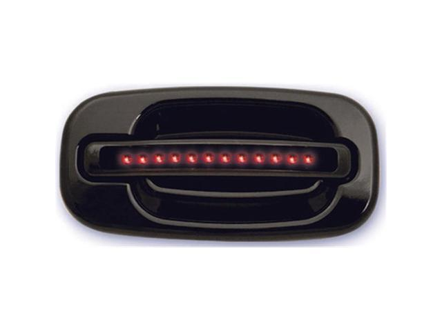 IPCW CLR99B18F1 Cadillac Escalade 1999 - 2006 LED Door Handle, Front, Black Red LED Smoke Lens 2Ps. Per Set