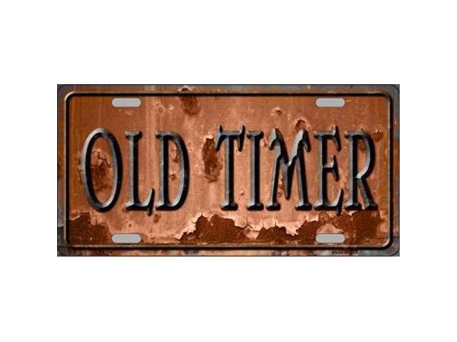 Old Timer Rusty Distressed Look Metal License Plate