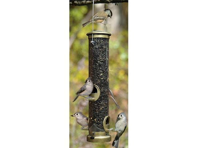 Aspects Medium Antique Brass Seed Tube Feeder Quick Clean