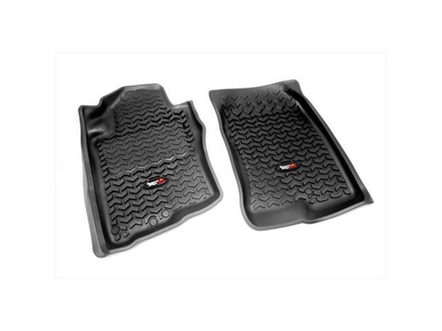 Rugged Ridge 82905.10 Floor Liner, Front Pair, Black, 2005-2013 Nissan Xterra And Pathfinder