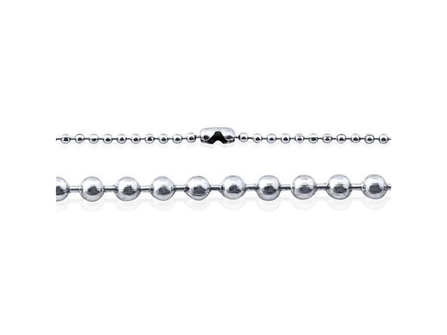 Doma Jewellery SSSSN03918 Stainless Steel Bead Necklace, Ball Style - 1.5 mm. Length 18 in.