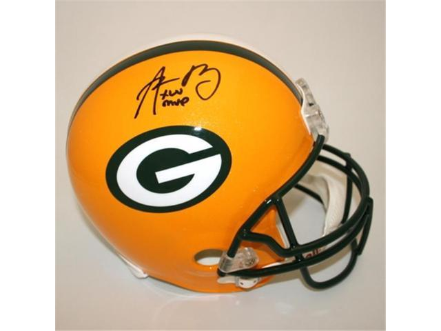 Victory Collectibles VIC-000216-30511-1 Aaron Rodgers Autographed Green Bay MVP Replica Helmet