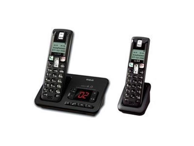 RCA 2102-2BKGA DECT 6.0 Cordless Phone with Caller ID & Digital Answering System (2-Handset System)