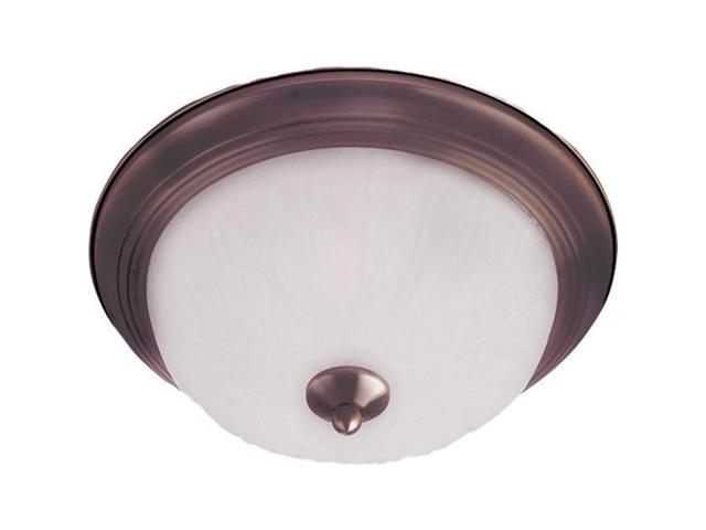 Maxim Lighting 5832FTOI Maxim 3-Light Flush Mount with Frosted Glass and Hallway Suggested Room Fit - Oil Rubbed Bronze