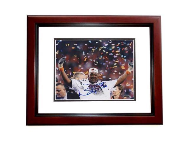 Real Deal Memorabilia NFairley8x10MF Nick Fairley Autographed Auburn Tigers 8x10 Photo - 2011 National Champion and MVP MAHOGANY CUSTOM FRAME