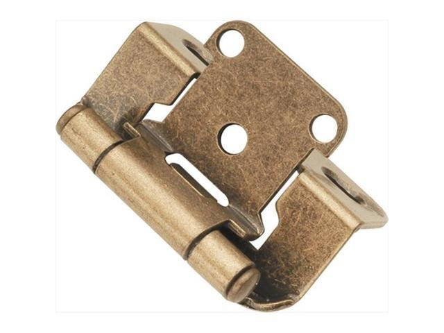 Hickory Hardware P2710F-AB Antique Brass Semi-Concealed Hinge 2-Pack