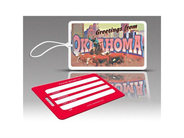 Insight Design 770736 TagCrazy Luggage Tags- Oklahoma- Set of Three