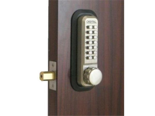 Lockey 2210-SN-KO Mechanical Keyless Deadbolt With Key Override - Satin Nickel