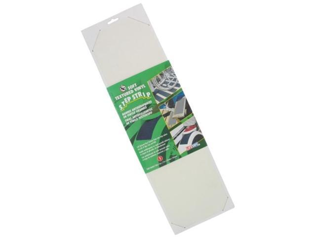 Incom Manufacturing 6in. X 21in. White Soft Textured Non Skid Vinyl Traction Strip