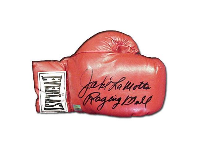 Superstar Greetings Jake Lamotta Signed Everlast Boxing Glove JL-SG