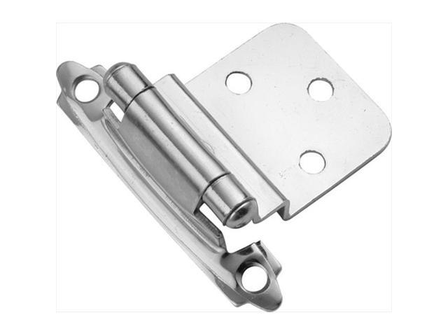 Hickory Hardware P143-26 Polished Chrome Surface Self-Closing 0.37 In. Offset Hinge 2-Pack