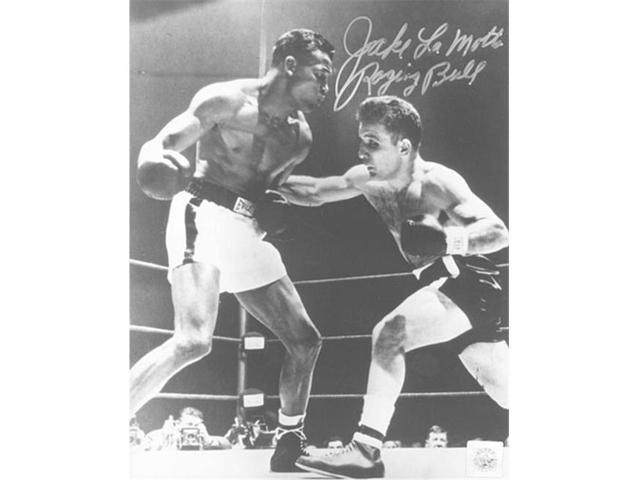 Superstar Greetings Jake Lamotta Signed 8X10 Photo - (Punching Sugar Ray Robinson) JL-8b