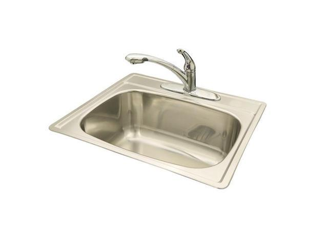 Franke Kindred 10in. Radiant Silk Single Bowl Topmount Sink  SSK104NB