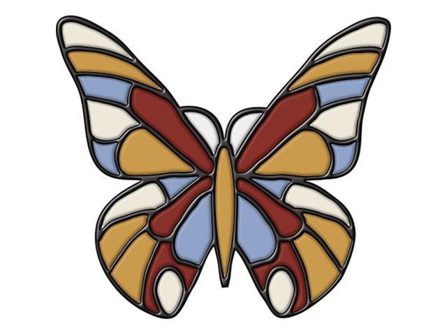 Brewster Home Fashions 99473 Butterfly - Stained Glass Applique
