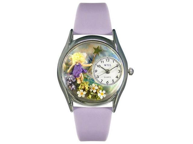 Whimsical Watches S0220002 Fairy Lavender Leather And Silvertone Watch