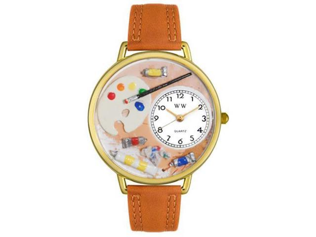 Whimsical Watches G0410002 Artist Tan Leather And Goldtone Watch