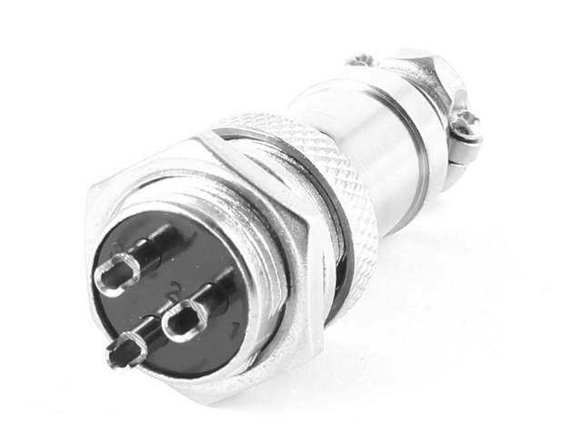 3PIN 16mm GX16 3 Pin Plug Cable Connector Aviation Male Female Wire