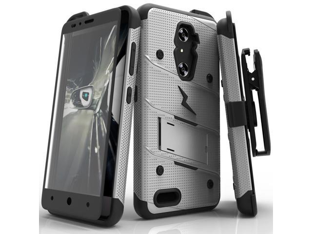 ZTE ZMax Pro Case, Zizo [Bolt Series] w/FREE [ZTE ZMax Pro Screen Protector] Kickstand [Military Grade Drop Tested] Holster Clip- ZTE Grand X Max 2