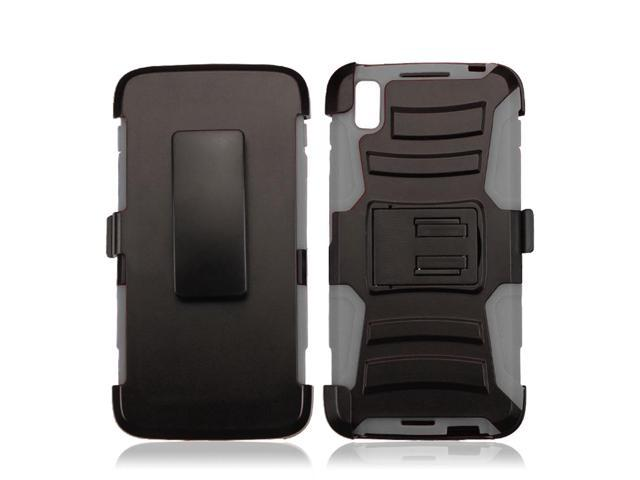 Zizo Armor Cover for Alcatel Idol 4 w/ [Heavy Duty Kickstand] Holster Clip and a [Shockproof Dual Layer Case] Strong Protective Slim