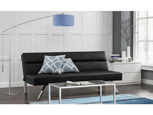 Premium Sofa Futon Couch Modern Design W Rich Faux