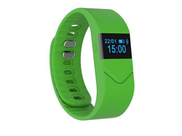 Boblov Smart Watch M5 OLED Touch Screen Heart Rate Monitor Pedometer Fitness Blood Oxygen Wristband Bracelet For iPhone Android (Green)