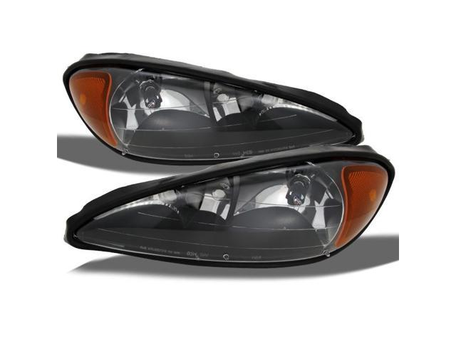Pontiac Grand AM Coupe/Sedan Replacement Headlights Driver/Passenger Head Lamps Pair New Black