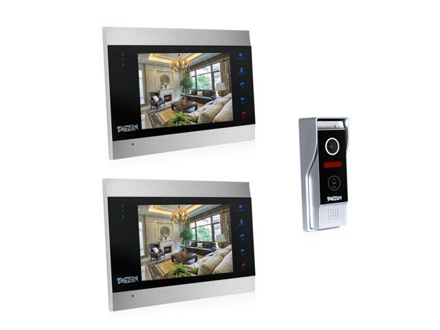 Tmezon Doorbell Intercom 7 inch Video Intercom Door Phone Camera Recorder  Dual Way Talk. Doorbell and Chime Systems   Newegg com