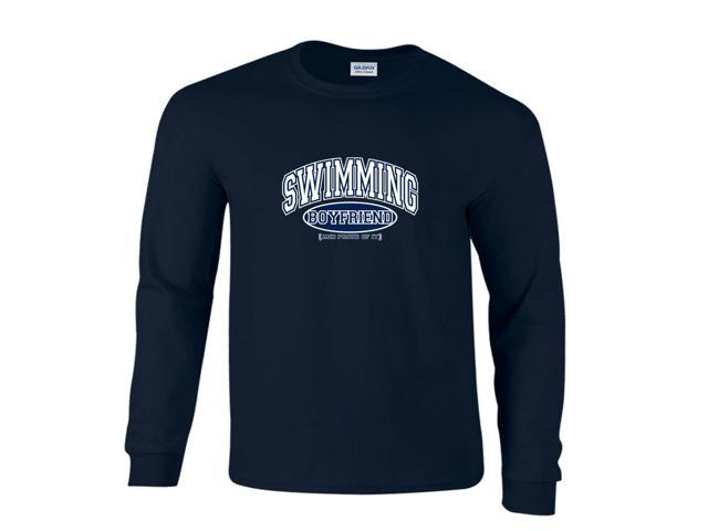 Swimming Boyfriend and Proud of It Long Sleeve T-Shirt