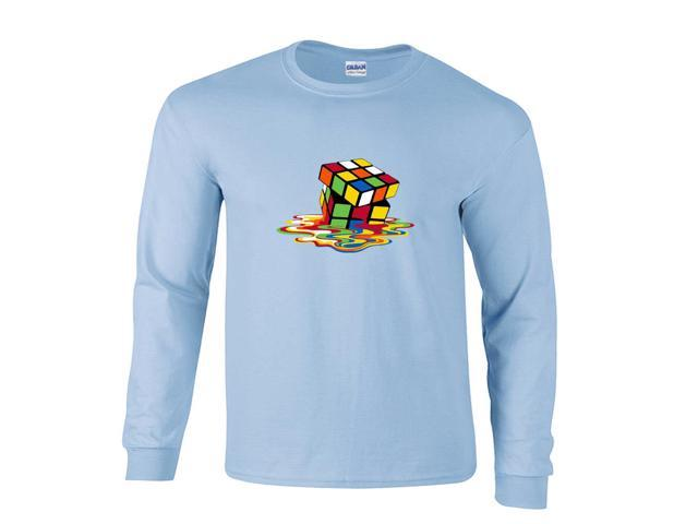Melting Puzzle Cube Picture Long Sleeve T-Shirt